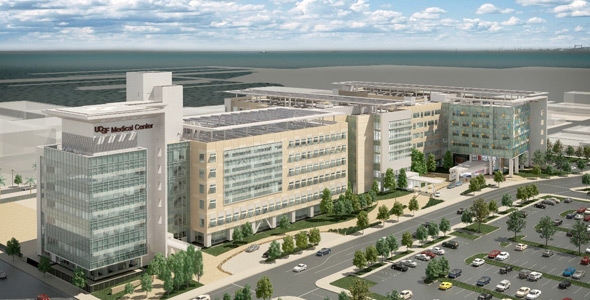 Virtual flythrough of the new hospital complex